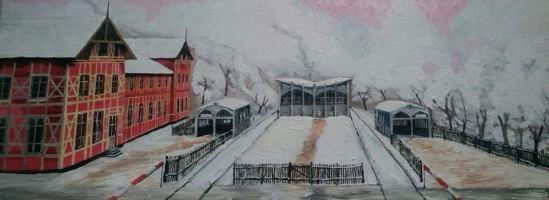 Alter Finkenkruger Bahnhof Gesamtansicht