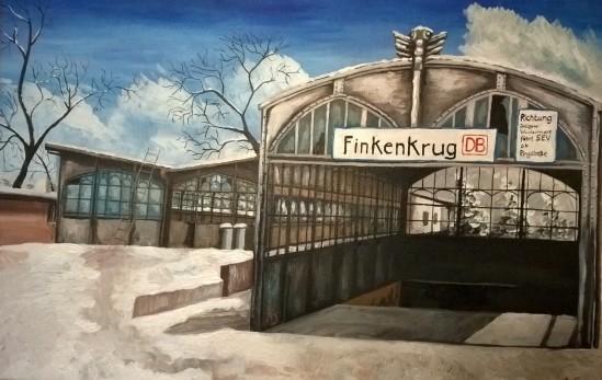 Finkenkruger Bahnhof Eingang
